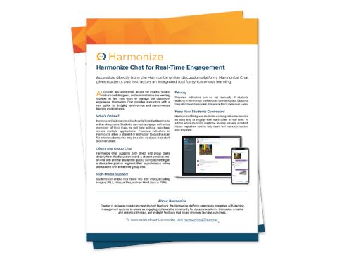 Harmonize Chat for Real-Time Engagement