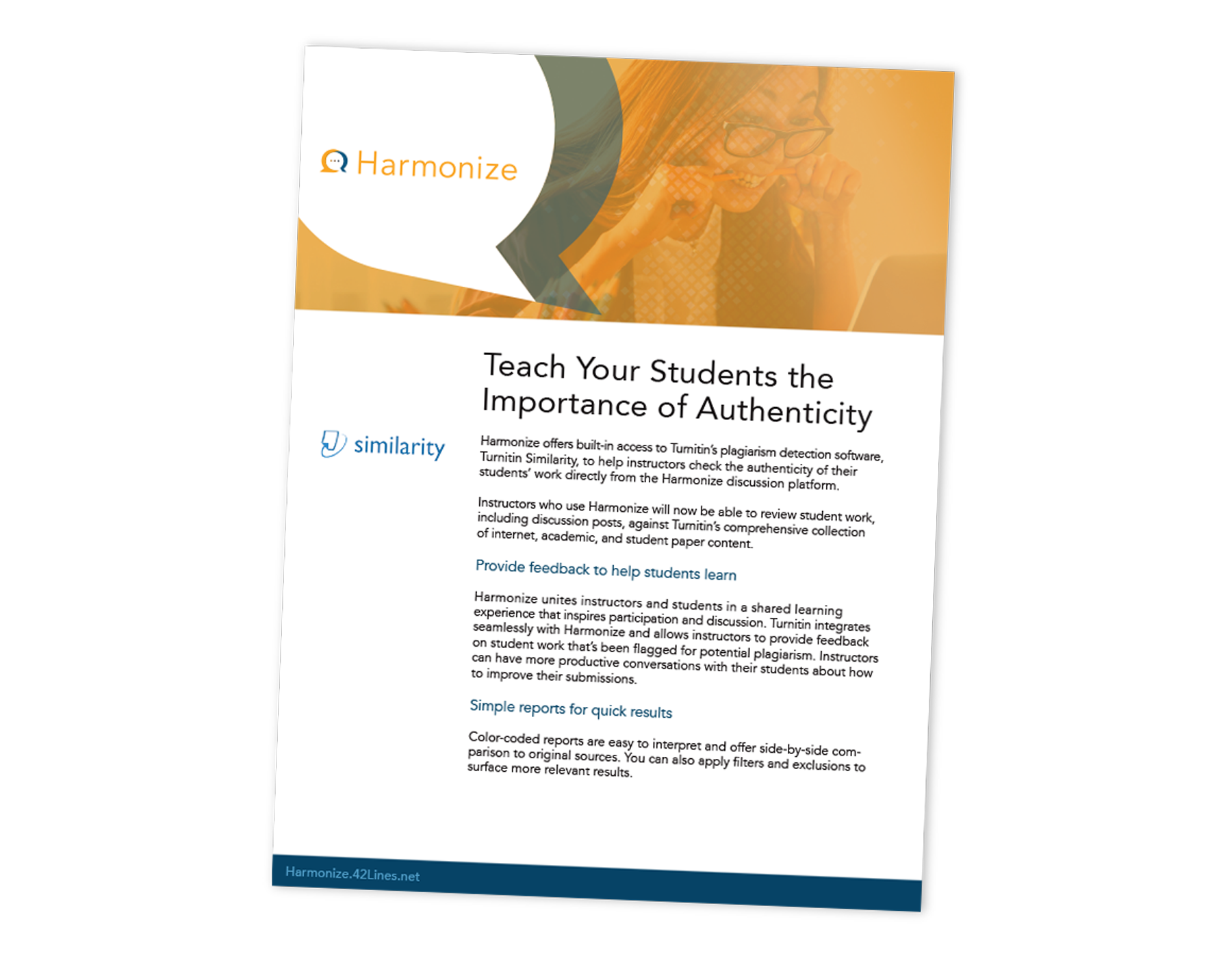 Teach Your Student the Importance of Authenticity | Turnitin Integration for Harmonize