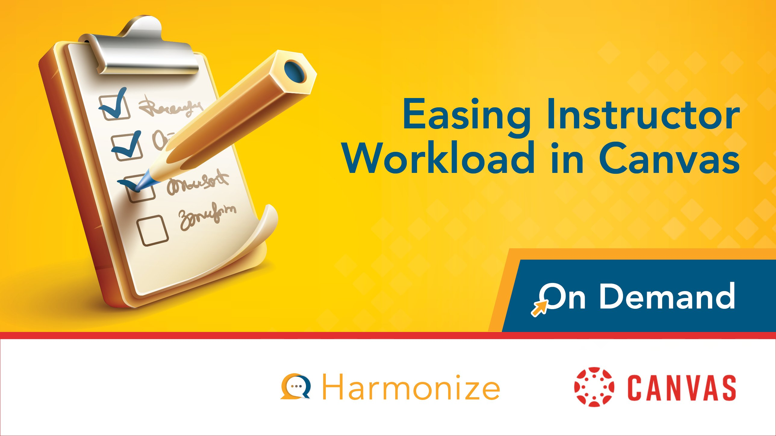 Easing Instructor Workload in Canvas