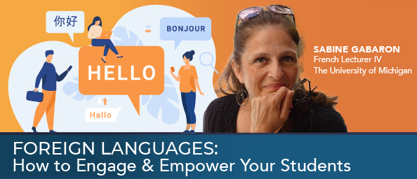 foreignlanguages graphic to promote on demand recording